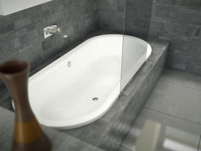 roca duo 1800 oval inset bath from reece