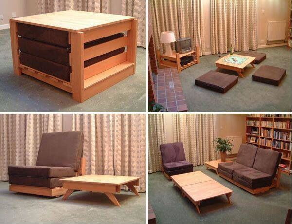 A Living Room Set That Is Completely Compact Able Single Chair Can Convert Into 3 Pads And Table Giving Lots Of Arrangement Optionaking Moving