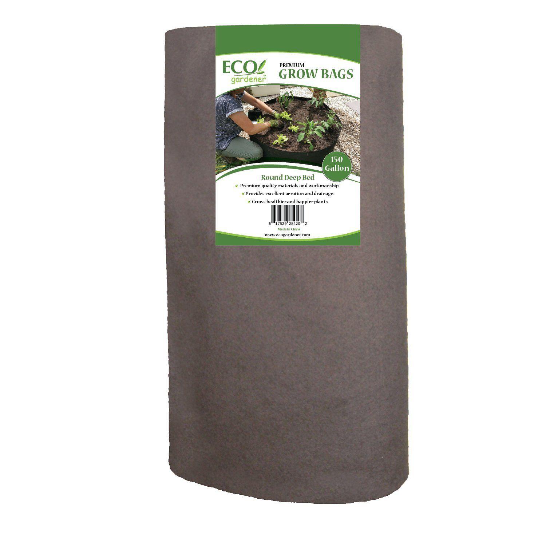 Ecogardener raised bed fabric planter grow bags gallon deep bed