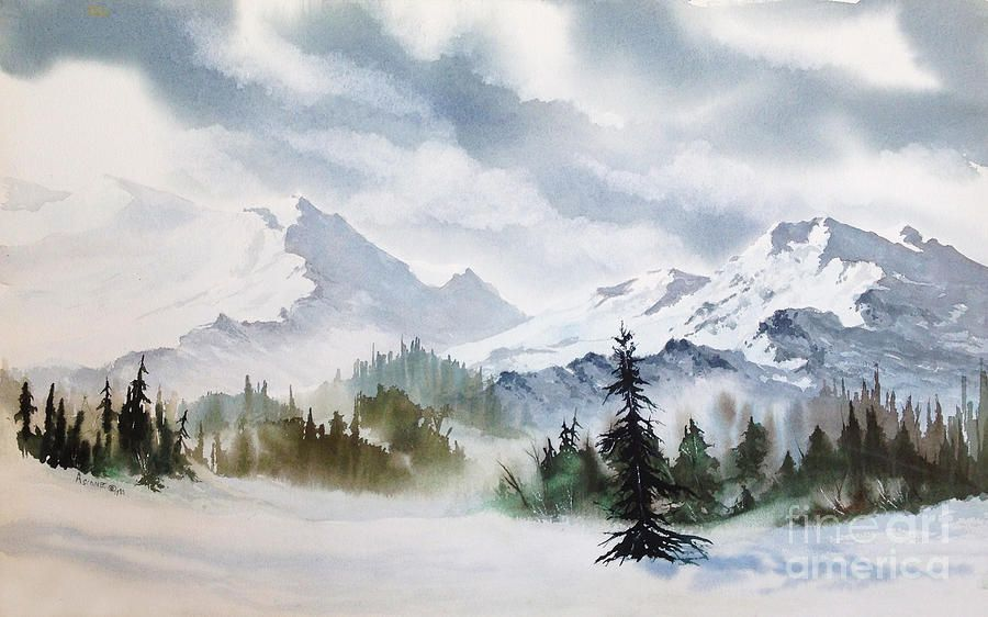Rugged Wild By Teresa Ascone In 2020 Watercolor Landscape