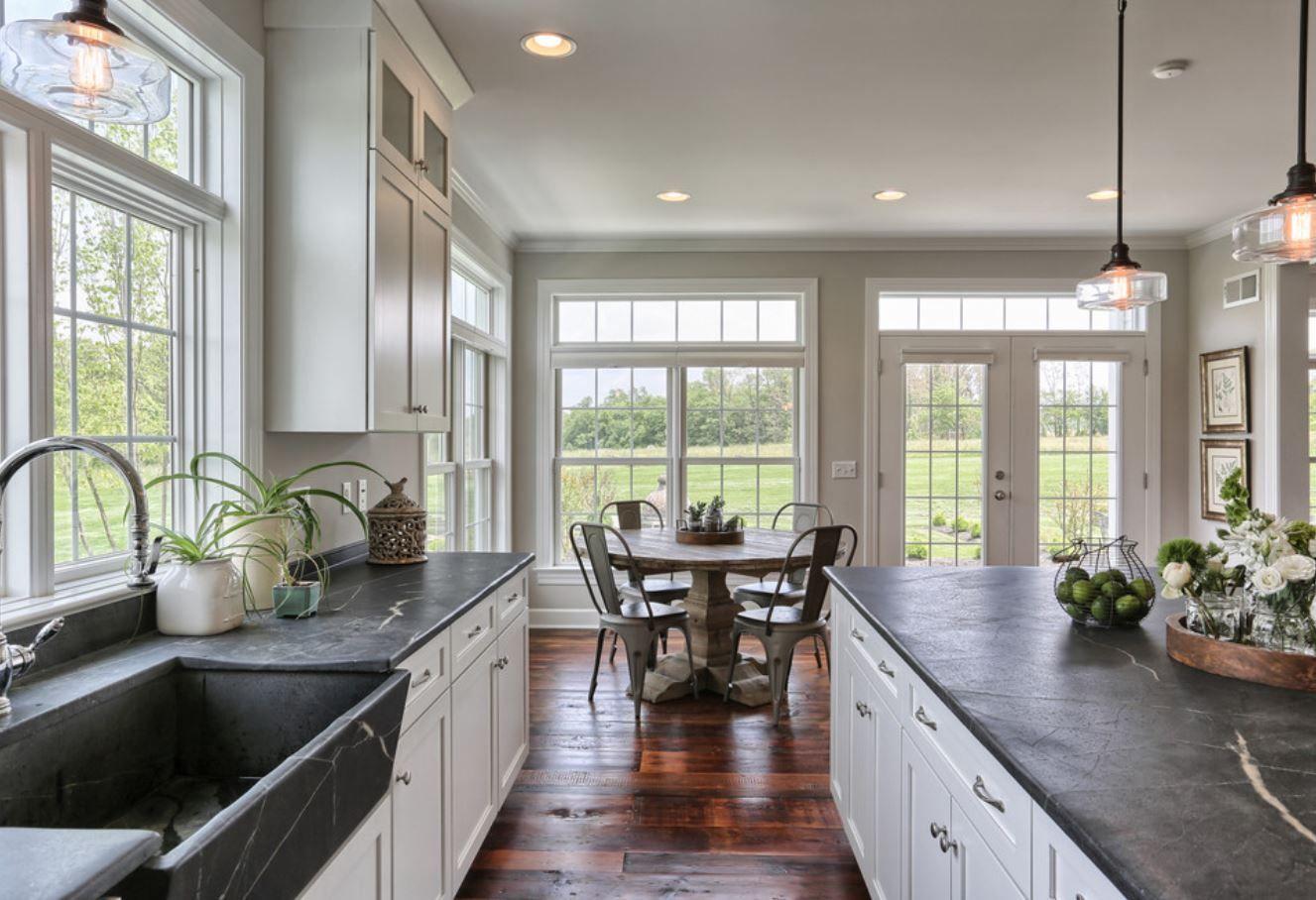 Soapstone countertops, windows, PERFECT | Kitchen ideas | Pinterest ...