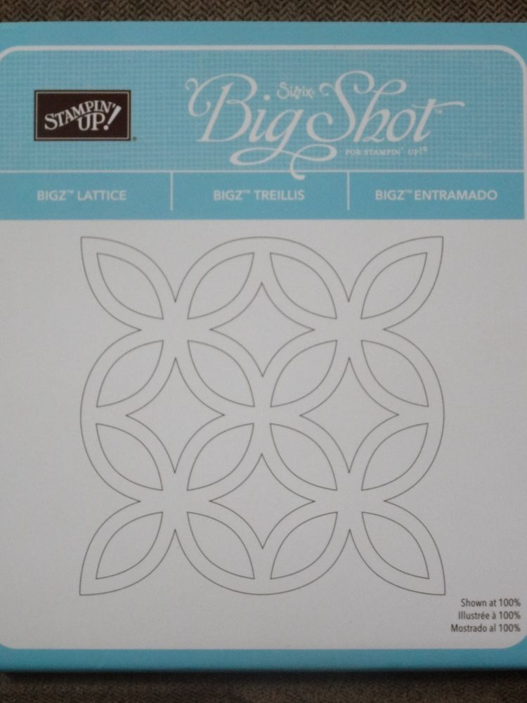 Stampin Up Lattice Sizzix Bigz Die Big Shot Retired Stampin Up Sizzix Big Shot Big Shot