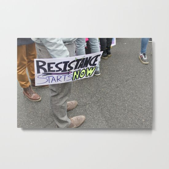 Our Metal Prints Are Thin Lightweight And Durable 1 16 Aluminum Sheet Canvas The High Gloss Finish Enhances Color Womens March Art Metal Prints Womens March