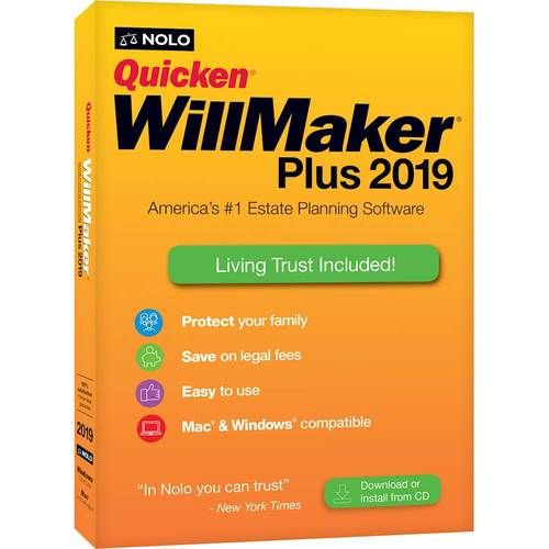 Quicken Willmaker Plus 2019 Mac Windows Living Trust Quicken