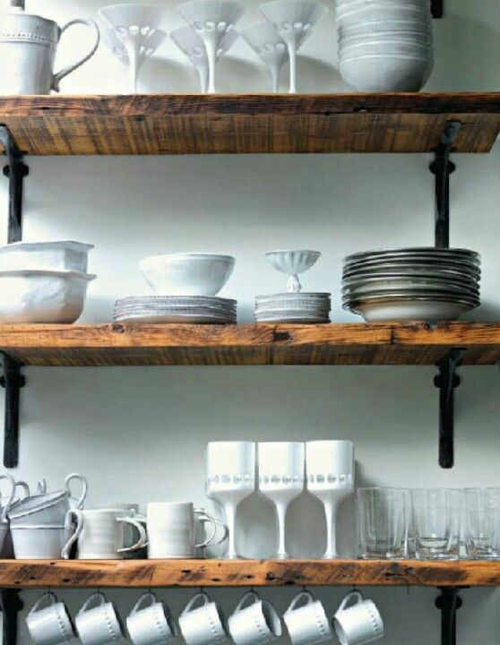 reclaimed from farm metal brackets for dining room laundry room shelving for the home. Black Bedroom Furniture Sets. Home Design Ideas