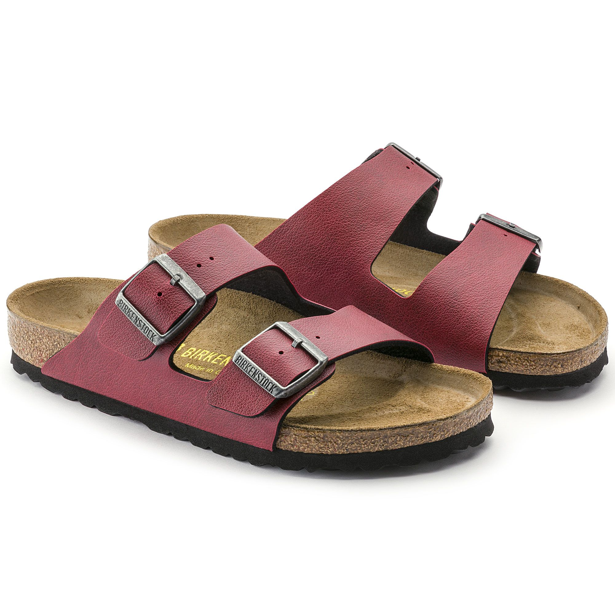 BIRKENSTOCK Arizona Birko-Flor Pull Up Bordeaux in all sizes ✓ Buy directly  from the manufacturer online ✓ All fashion trends from Birkenstock