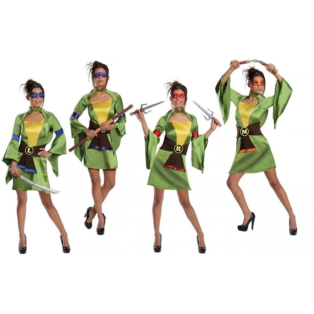 Teenage Mutant Ninja Turtle Costume Adult Female TMNT Halloween Fancy Dress