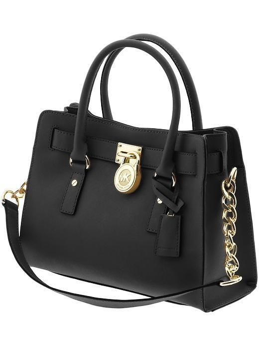 Michael Kors black bag - could not be more in love with MK bags