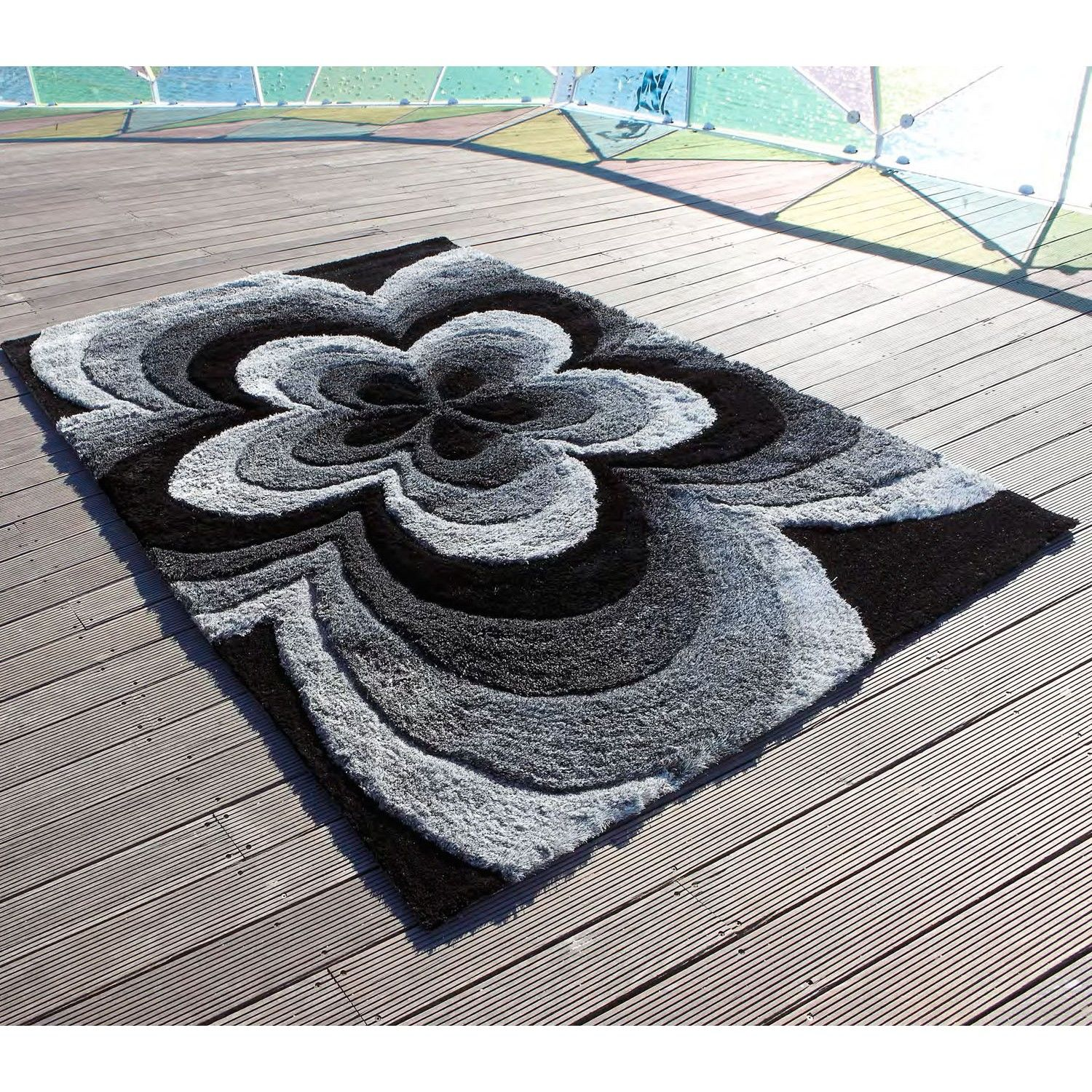 Alfombra moderna rose 3d locker hooking plastic canvas patterns and punch needle - Carving alfombras ...