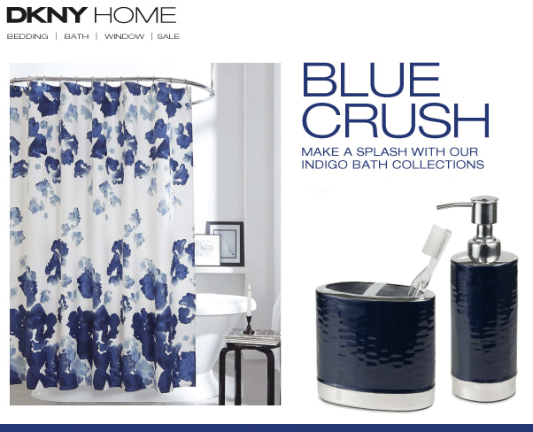 Indigo Blue Bathroom Accessories From Dkny Home Blue Bathroom Accessories Navy Blue Bathrooms Blue Bathroom