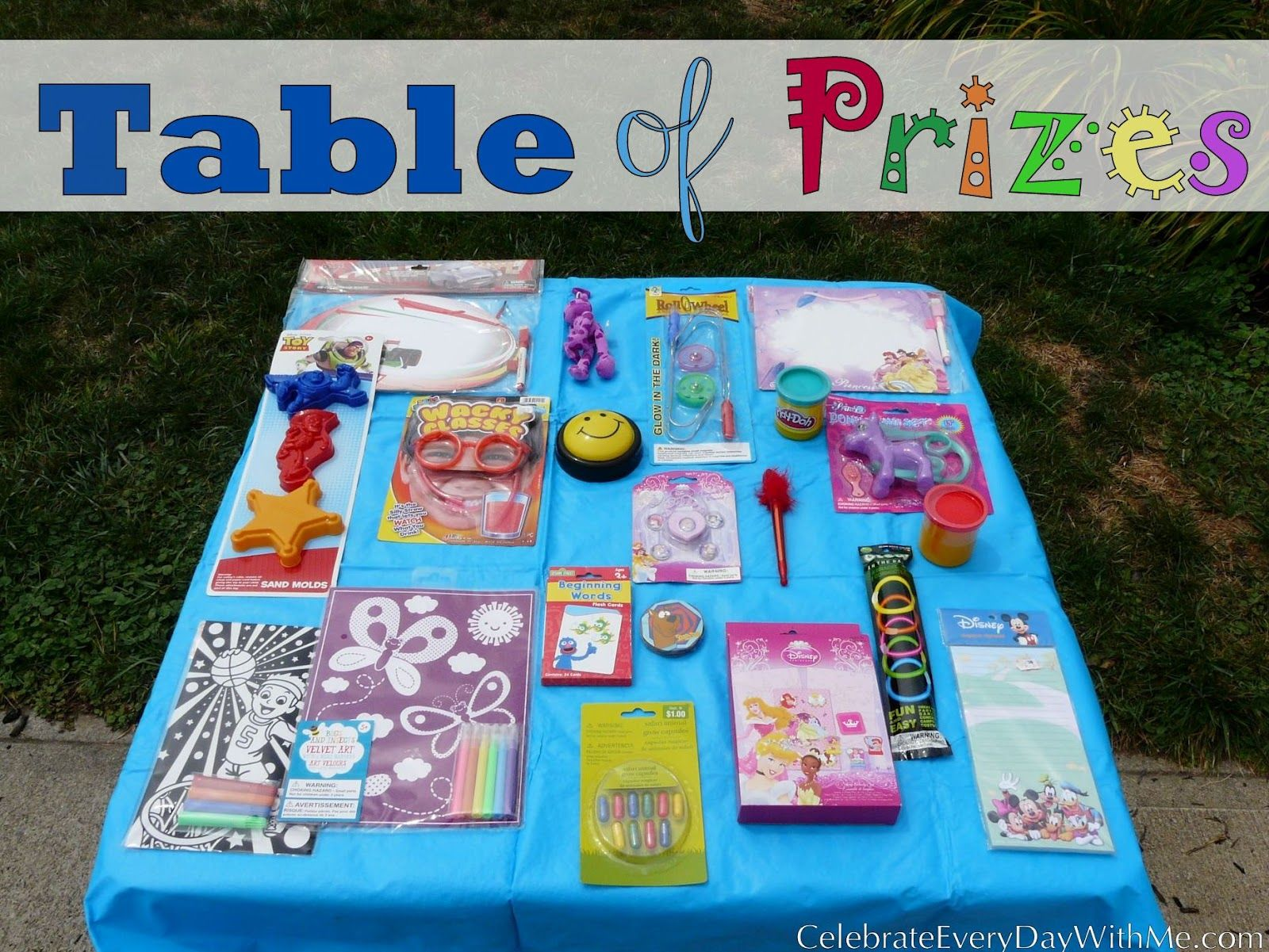 Cool Table Of Prizes A Birthday Party Game Party Ideas Baby Interior Design Ideas Apansoteloinfo