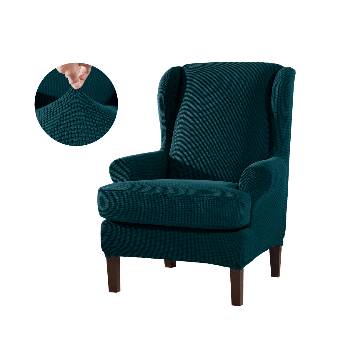 2Piece Stretchable Wing Back Chair Slipcover in 2020