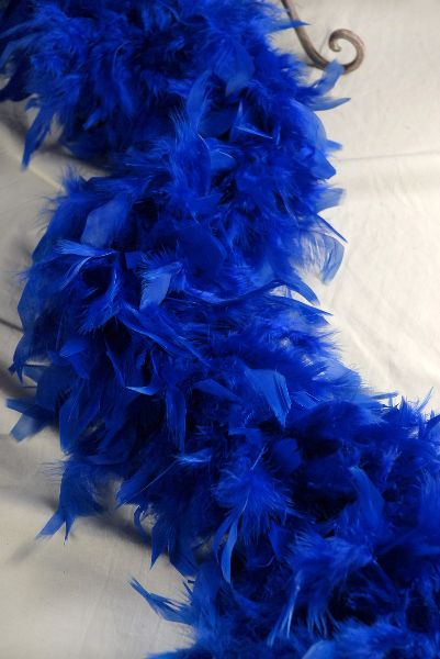 Feather Boas Thick Royal Blue Boas Chandelle Feather 7 Width 80 Gram Vintage Fashion Multiple Color Blue Feather
