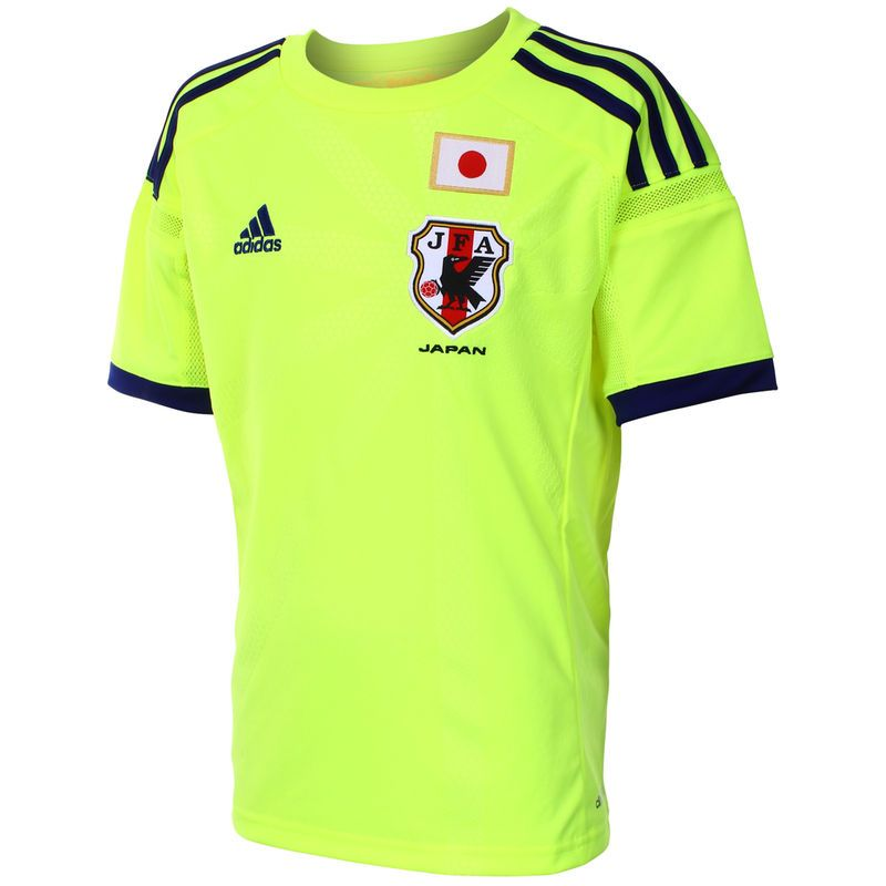 Japan adidas Youth Replica Away Jersey - Neon Green