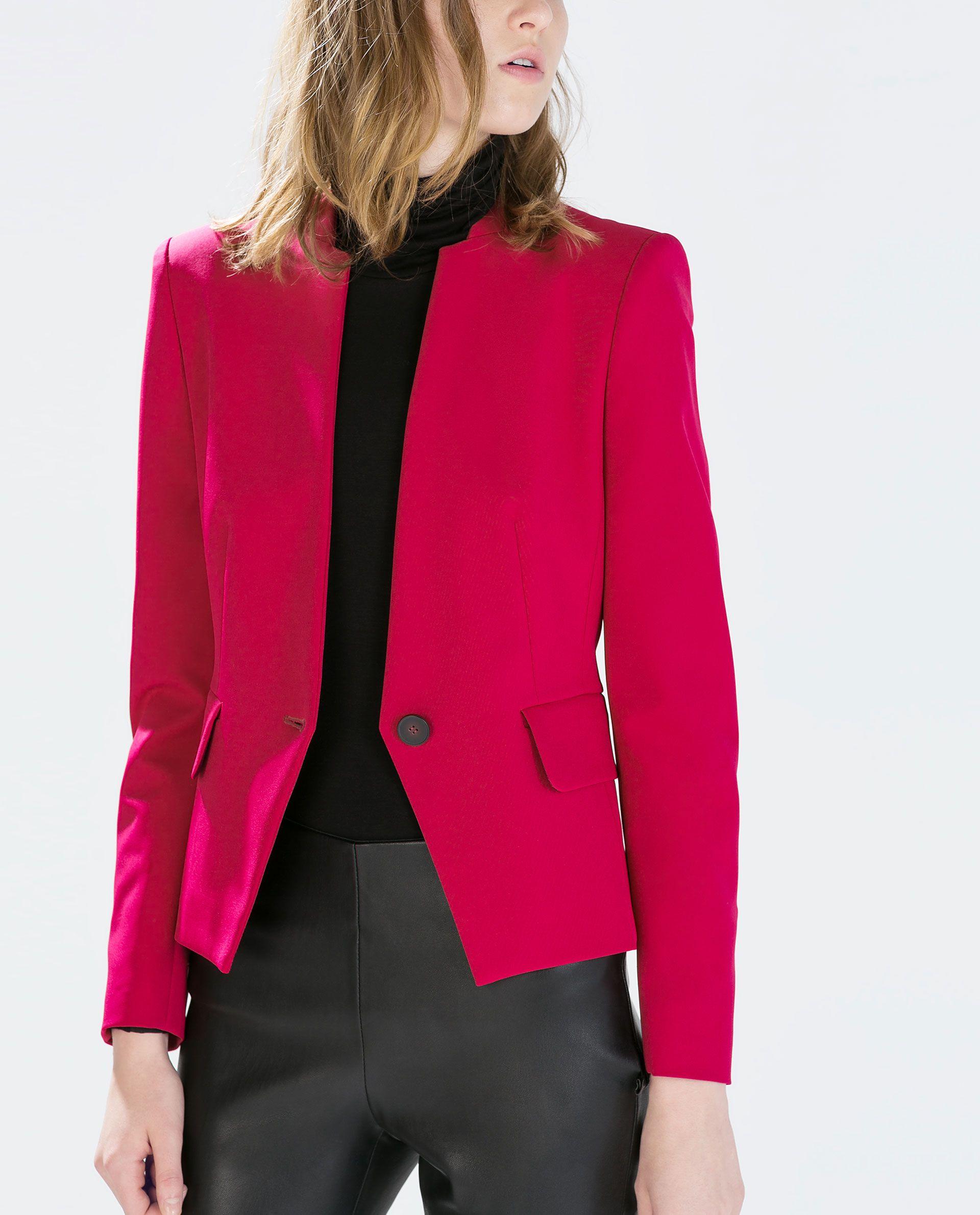 ZaraBlazers WomenOuterwear From Magenta For Blazer RAL54j