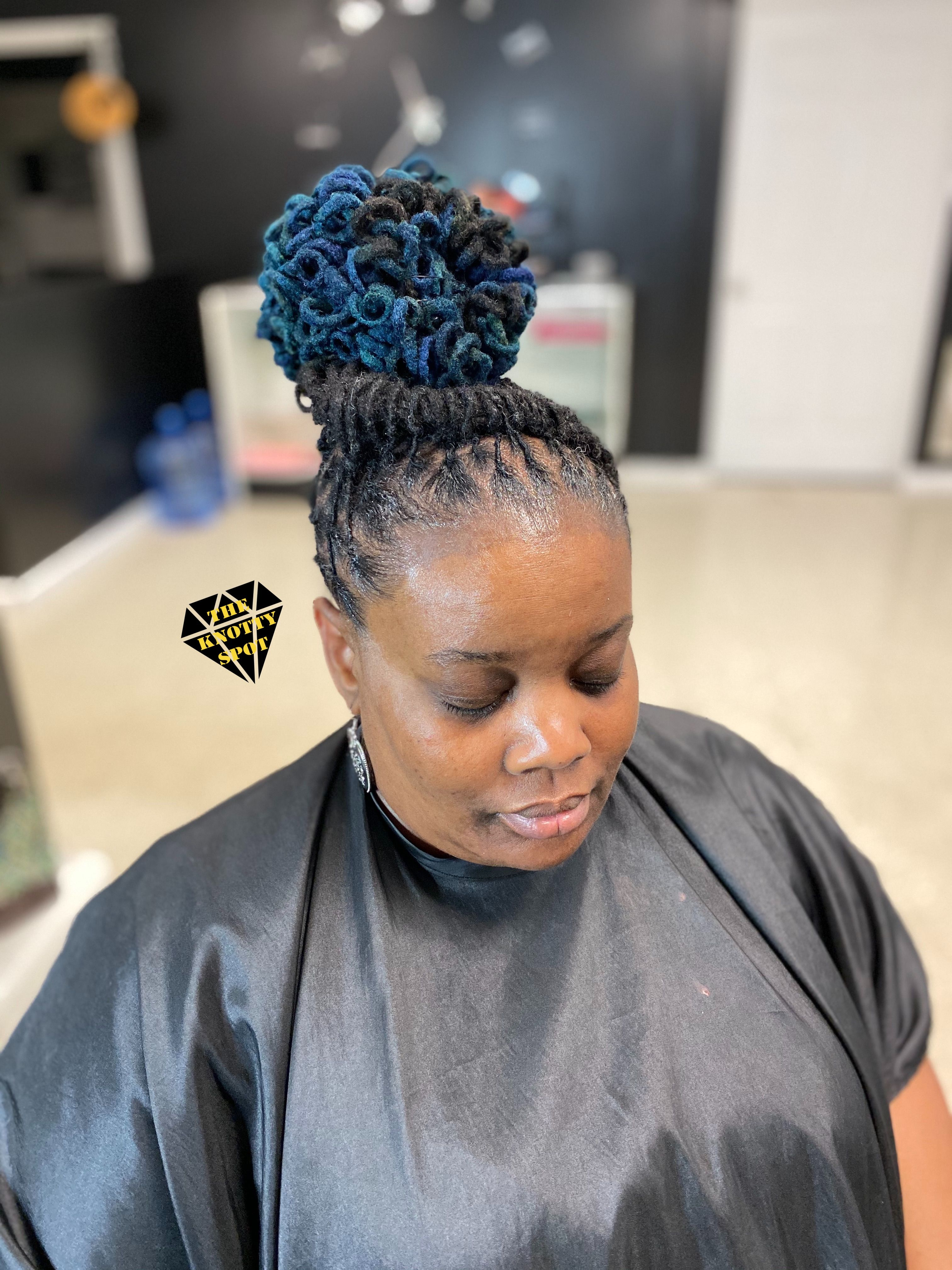 Loc updo loc updo dreadlock hairstyles natural hair color