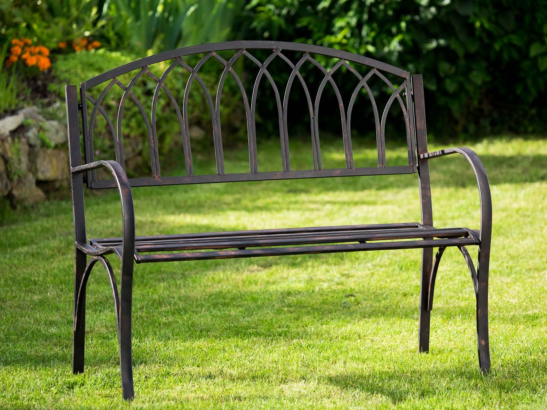 Nostalgie Gartenbank Metall Eisen Antik Stil Braun Gartenmobel Garten Park Bank Gartenbank Metall Gartenbank Garten Bank Kissen