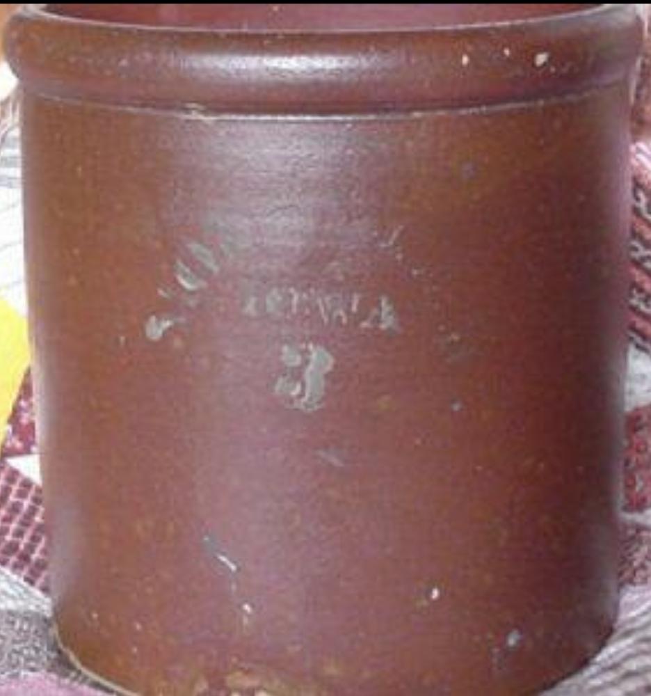 Ackley Redwing Pottery NEW Iowa crock