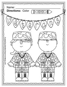 Veterans Day Coloring Pages Freebie Ec Veterans Day