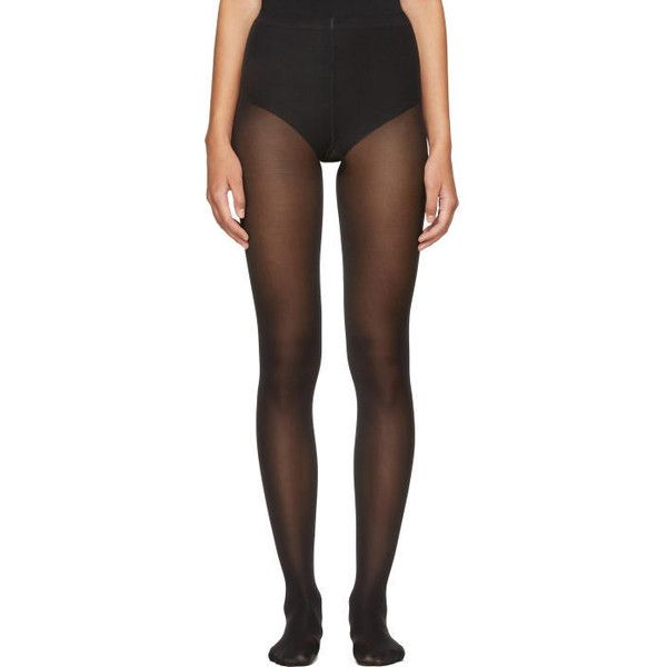 Wolford Black Velvet de Luxe 50 Tights ($43) liked on ...