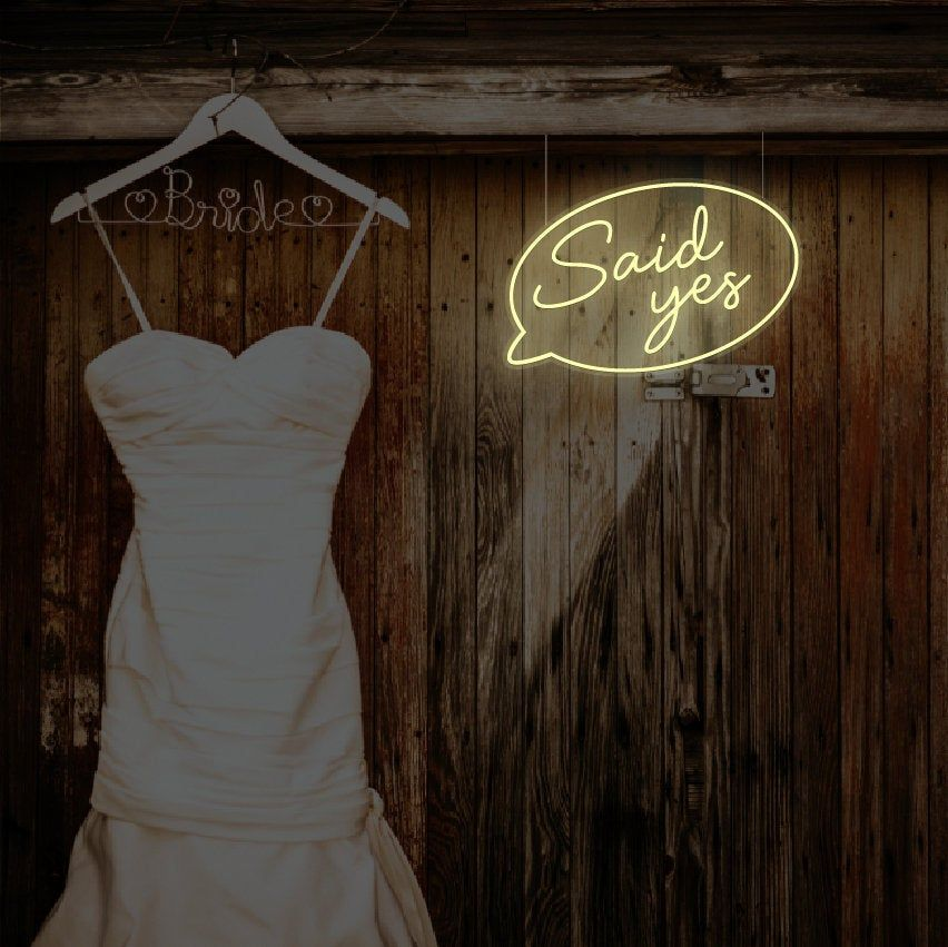 LED neon sign said yes Custom colour Classic Neon signs