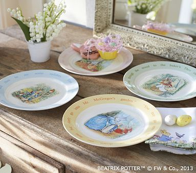 Peter Rabbit Ceramic Plate Set Potterybarnkids Plates