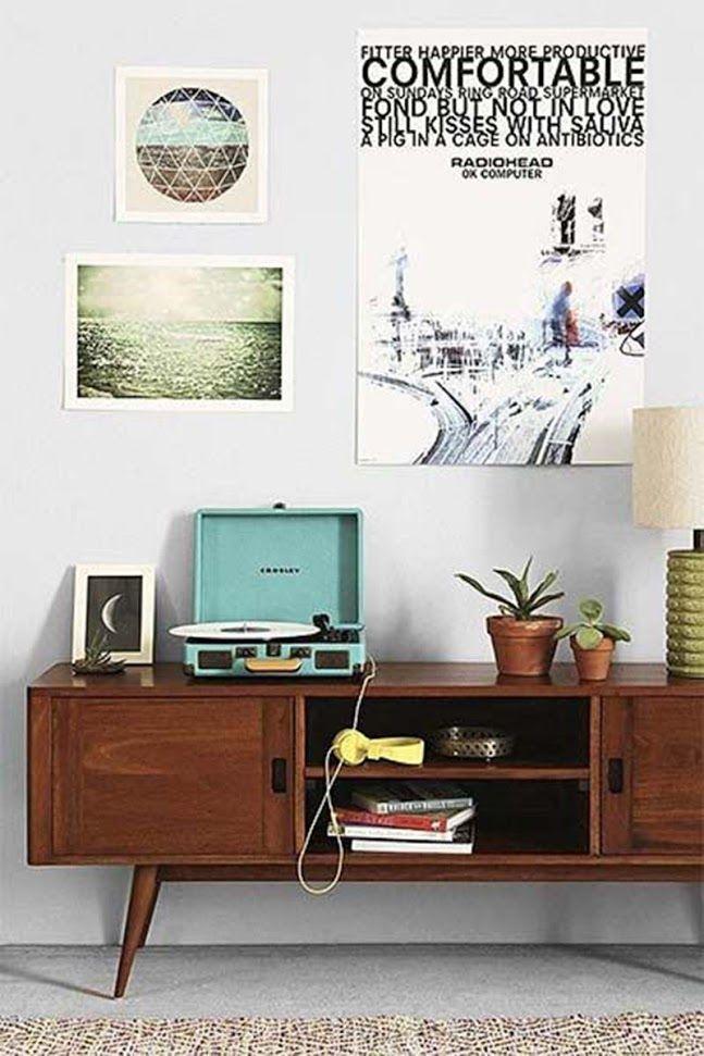 Postretro4 Living Room 60s, Vintage Modern Living Room, Living Room Decor,  Retro Sideboard