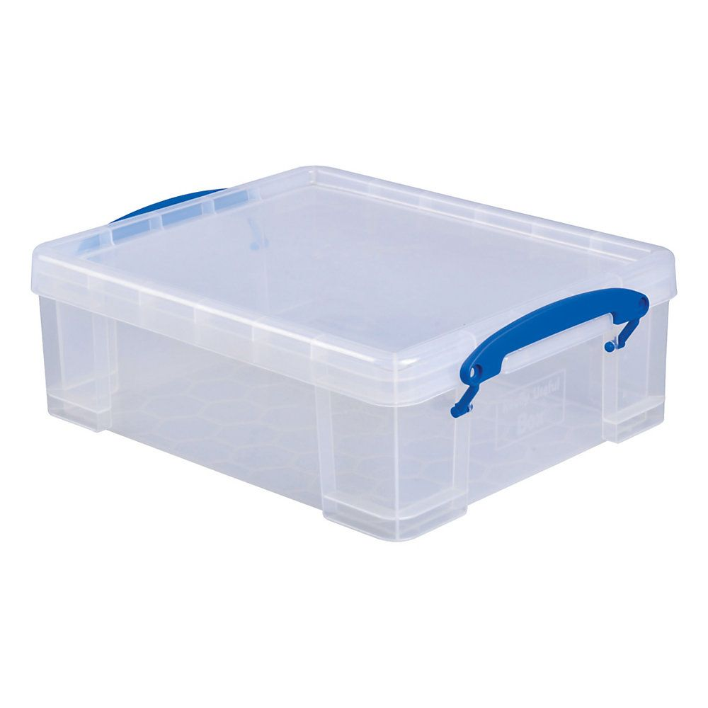 Really Useful Boxes Plastic Storage Box 81 Liters 4 1516 H X 11 14 W X 14 14 D Clear By Office Depot Officema Plastic Box Storage Storage Box Plastic Storage