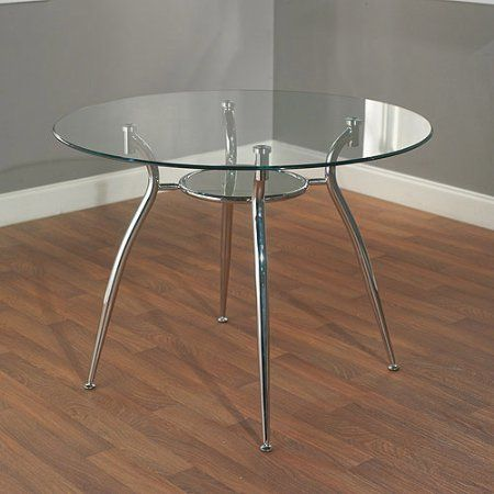 Mabel Metal Dining Table With Gl Top 105 00