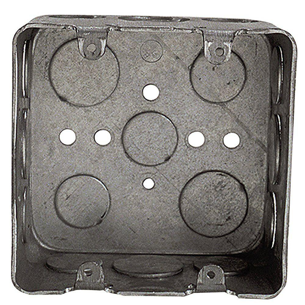 Steel City 2 Gang New Work Square Device Electrical Wall Box Case Of 10 Wall Boxes Galvanized Steel Steel
