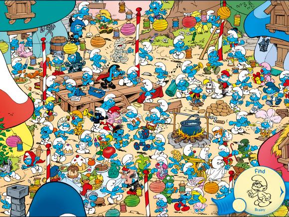 cherche et trouve - les schtroumpfs | enfants | Cherche et ...