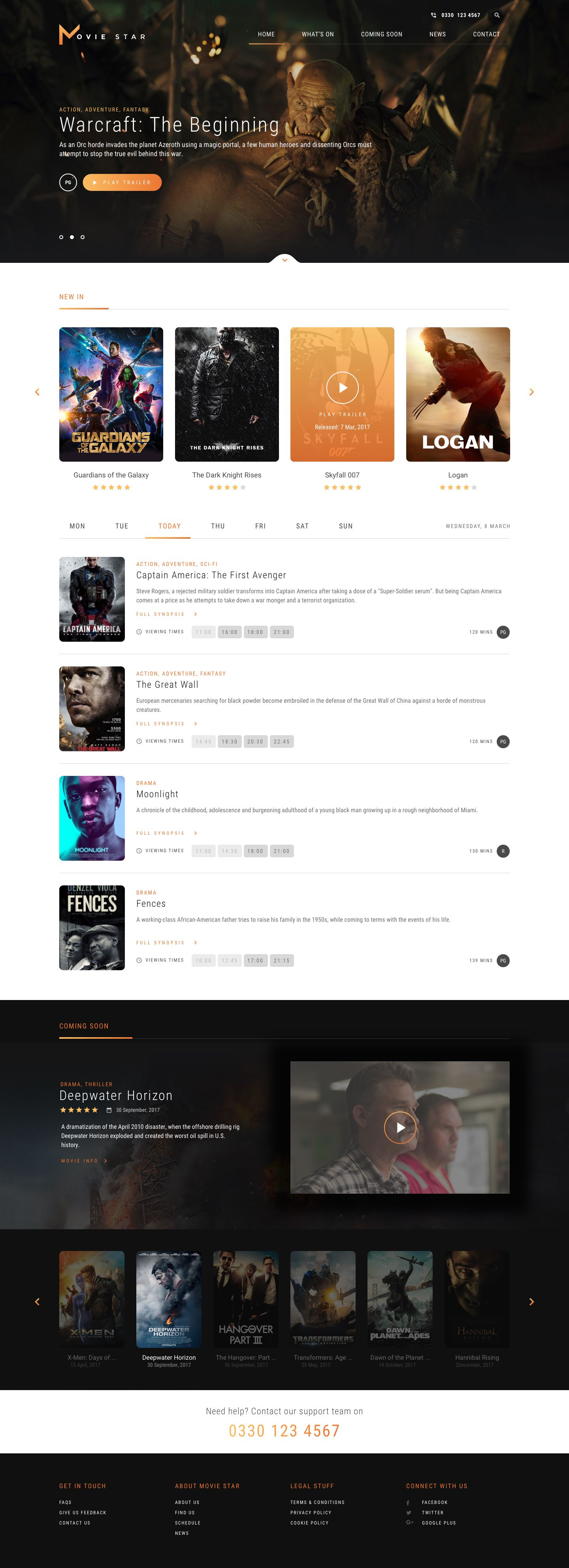 Movie Star Cinema Html Template By Kleverthemes Themeforest