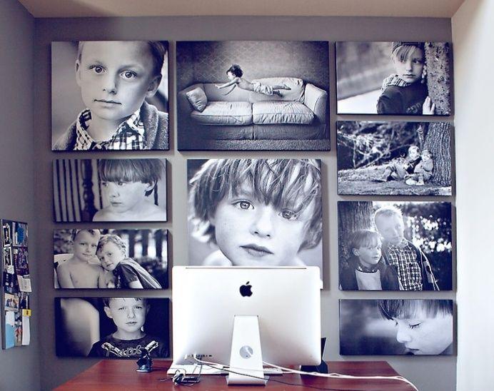 стильное оформление фотографий на стене: 25 тыс ...