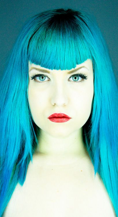 cedf086eae1 Turquoise hair I follow her on youtube and she got me inlove with this hair  color.
