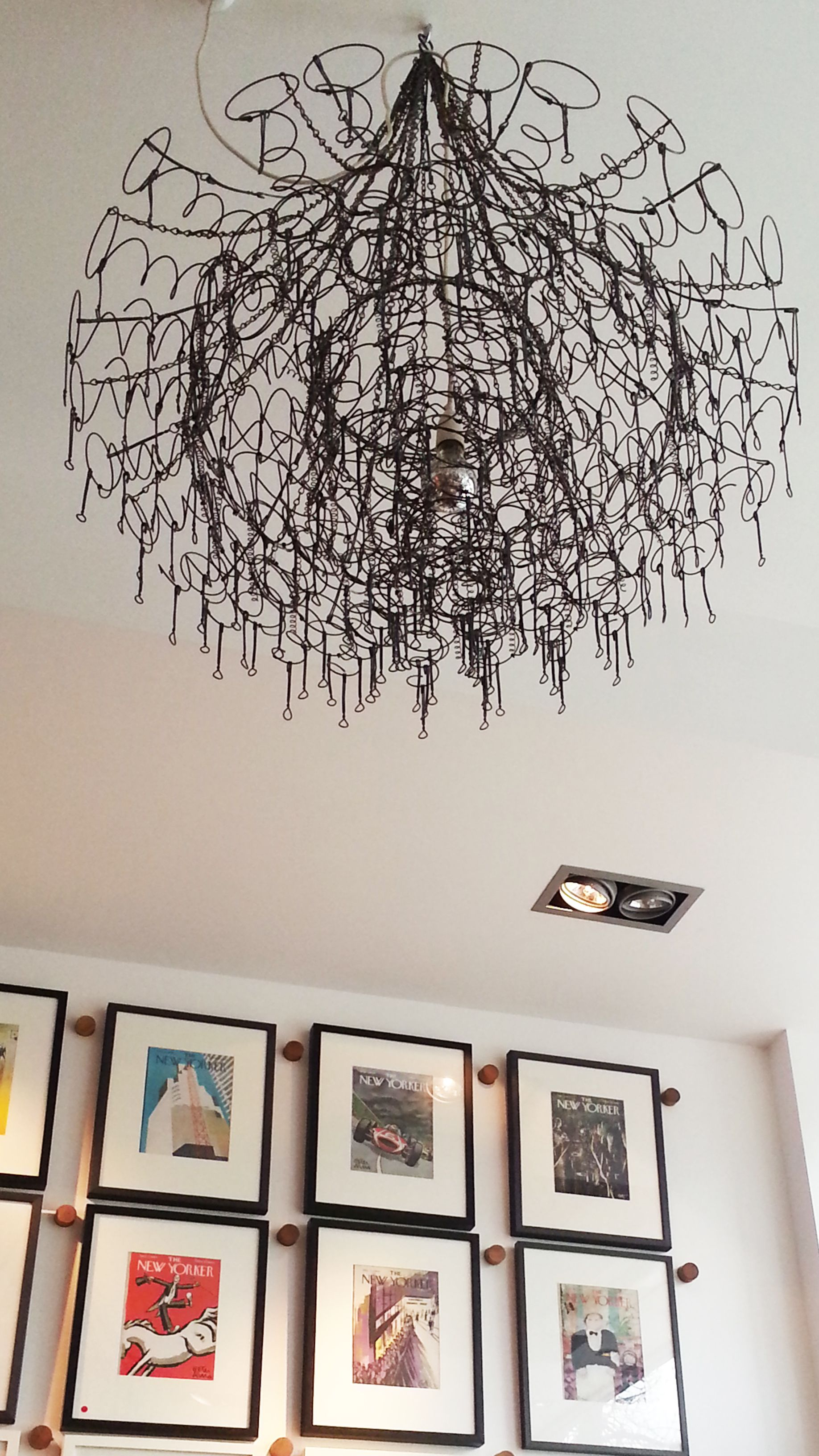 Bedspring light feature. Chandelier style Spring