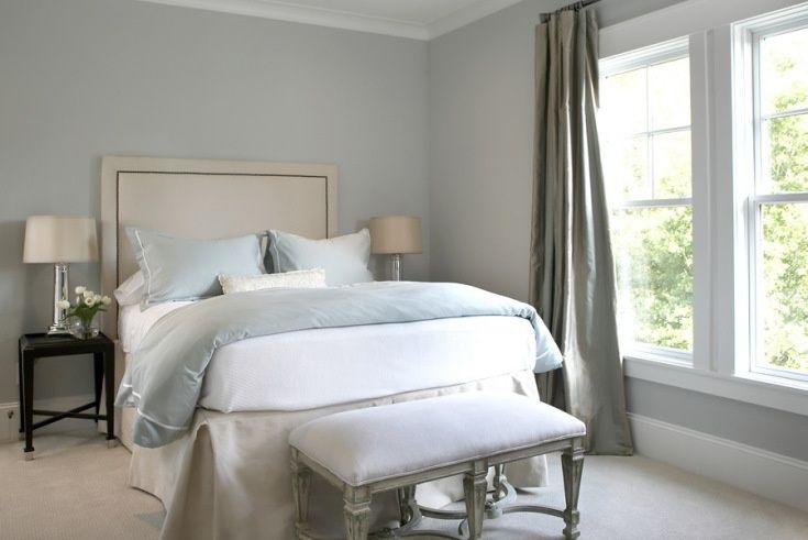 heather gray color on walls   Blue Gray Bedroom Paint Colors