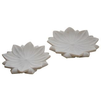 White Marble Lotus Flower Plates  sc 1 st  Pinterest & White Marble Lotus Flower Plates | VW Home Marble Accessories ...