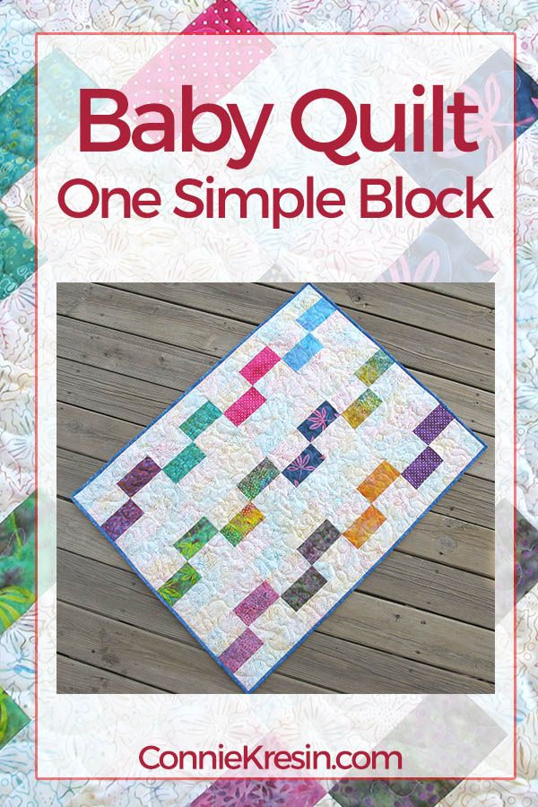 Painted Window Block Baby Quilt Sewing Miscellaneous Pinterest