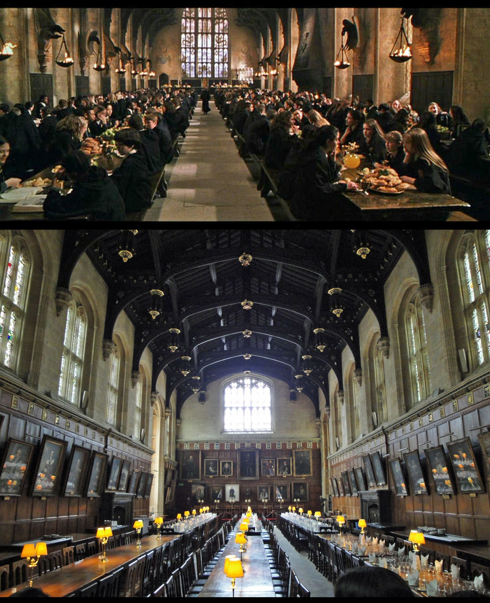 The Hogwarts Great Hall Set Design Seen In All Harry Potter Movies