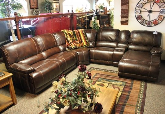 Darius Leather Reclining Sectional Bailey S Furniture Living