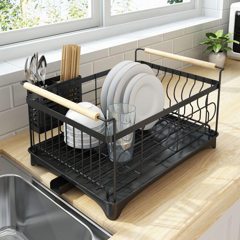 Rust Proof Kitchen Draining Dish Drying Rack Dish Rack With Black Drain Board Kitchen Furniture Kitchen Design Kitchen Decor