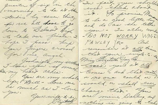 Elizabeth Taylor Love Letter To William Pawley She Was  At The