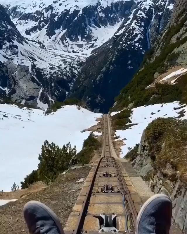 ⛰ Gelmer Funicular, Bern, Switzerland. -   22 amazing travel destinations Videos ideas