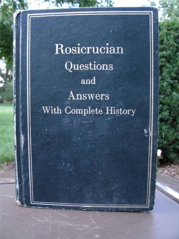 AMORC, INITIATE'S COPY HIGHLY COLLECTIBLE 'ROSICRUCIAN QUESTIONS & ANSWERS