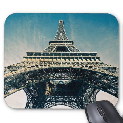 Eiffel Tower Mouse Pad Photography Gifts Diy Custom Unique Special