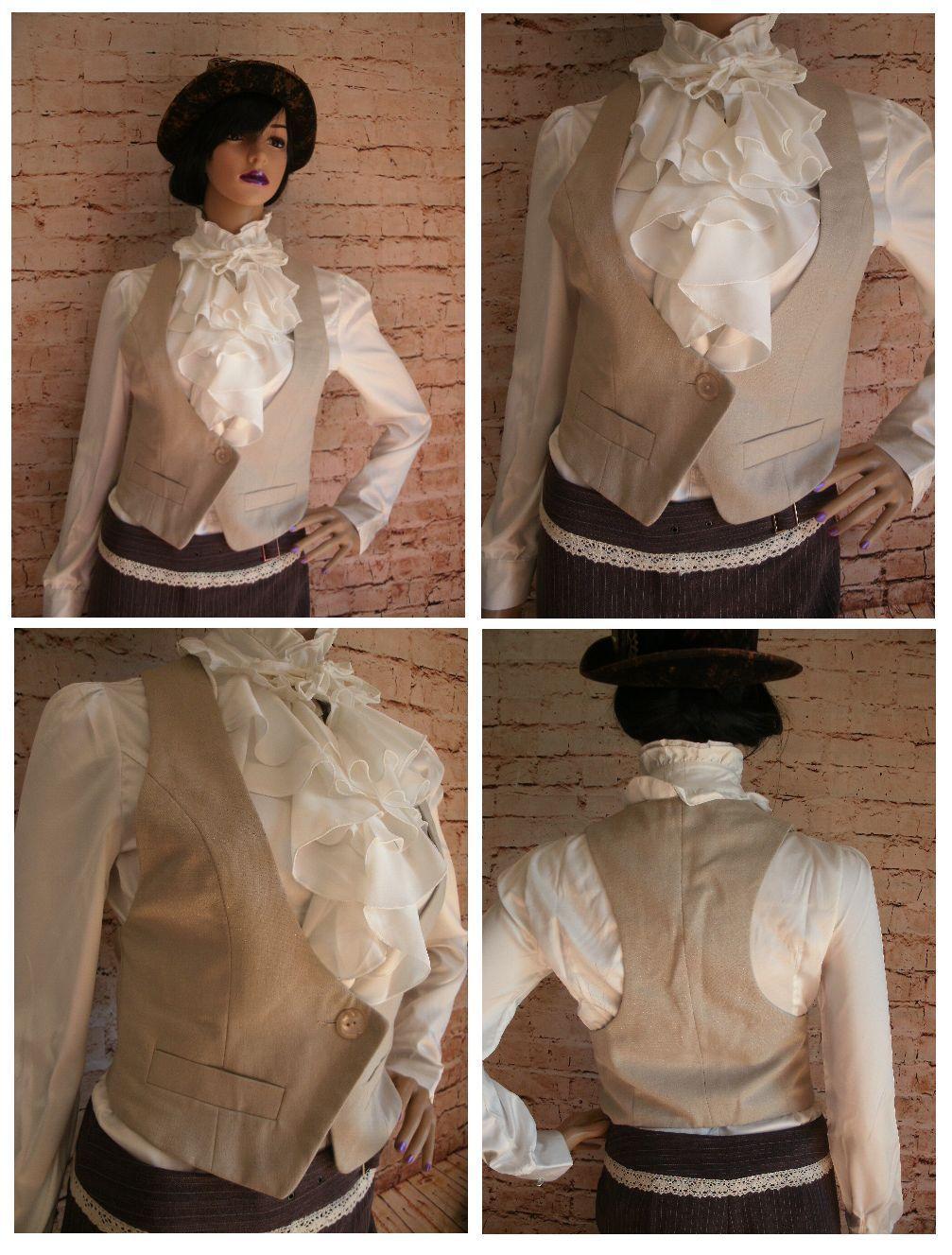 Ladies Gold Waistcoat Size 8 Steampunk Gothic Victorian (D51) Miss Selfridge   eBay