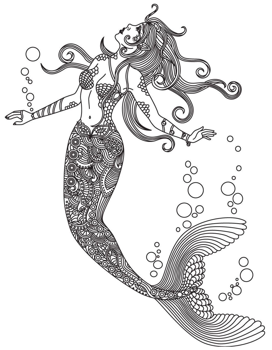 Mermaid SeaWorld coloring page | Colorish : coloring book app for ...