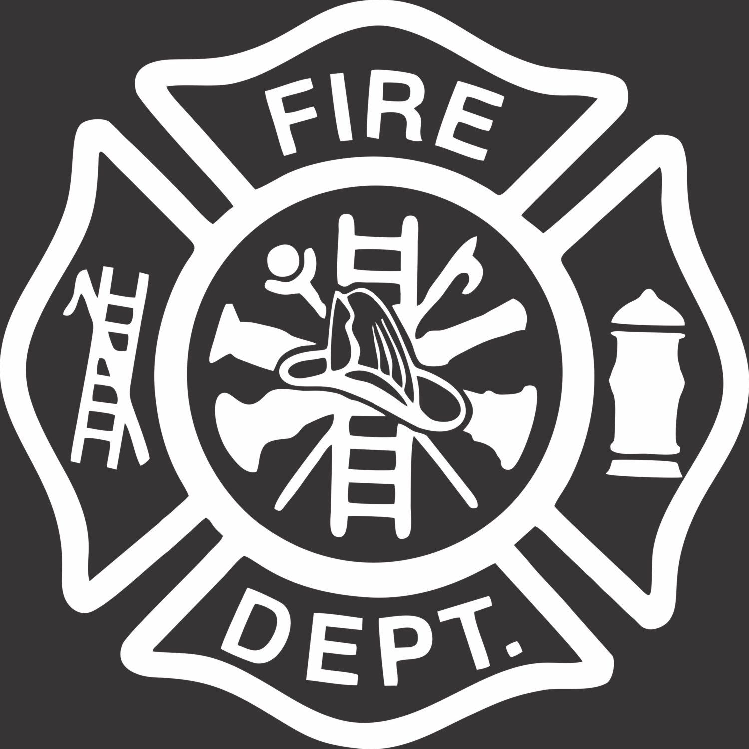Fire Fighter Logo by BowsandBrosKreations on Etsy https