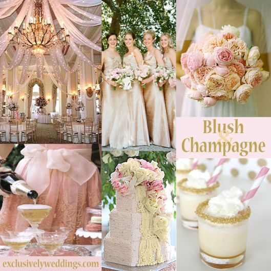 Blush And Champagne Wedding Colors Exclusivelyweddings Weddingcolors
