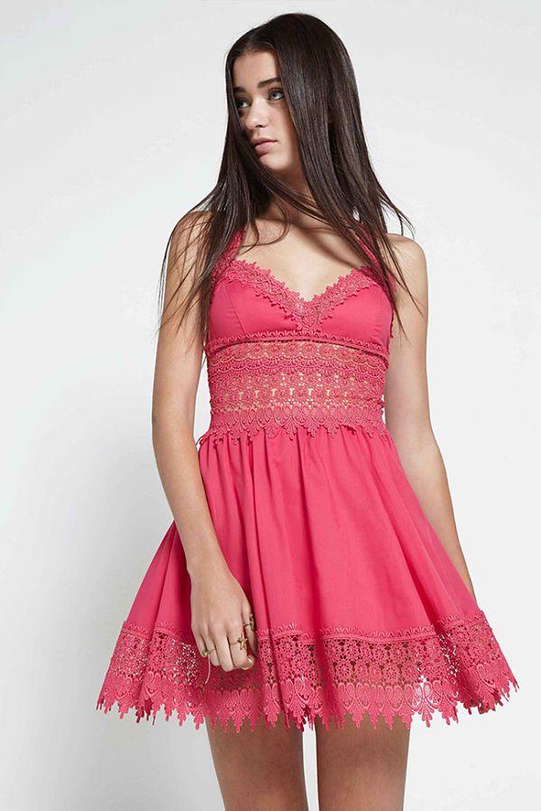 Vestido corto color coral primavera verano 2016 charo ruiz ibiza ...